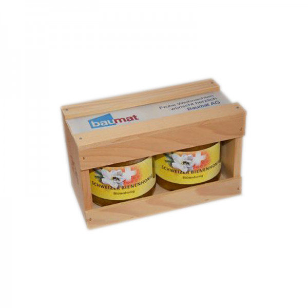 Holz-Geschenkpackung - 2x250g